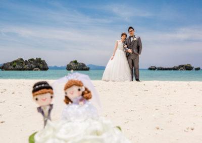 沖繩艾妮絲教堂的海灘拍照不止唯美,還有小玩偶登場