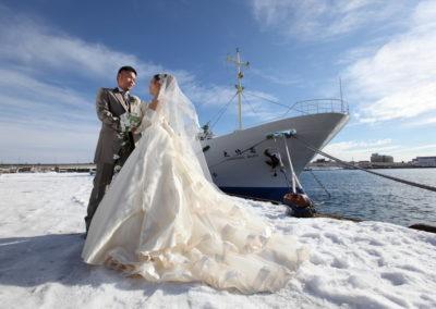 函館港冬天